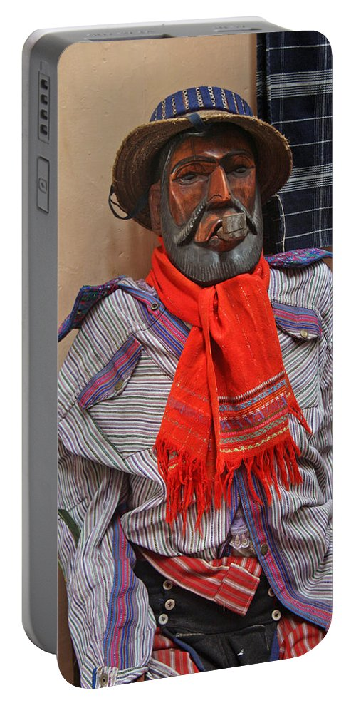 Guatemala Portable Battery Charger featuring the photograph Maximon by Elizabeth Rose