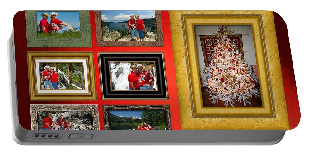 Portable Battery Charger featuring the photograph Mclanegoetz Studio Christmas Card by LeeAnn McLaneGoetz McLaneGoetzStudioLLCcom