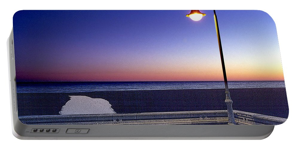Mediterranean Sea Portable Battery Charger featuring the painting Mediterranean Sea At Motril by Mike Penney