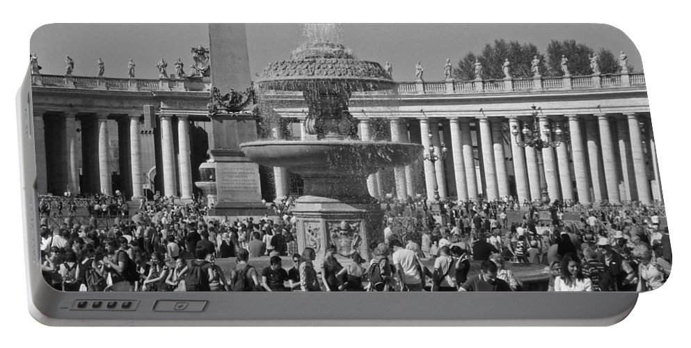 Vatican Portable Battery Charger featuring the photograph Meet Me At The Fountain by David Rucker