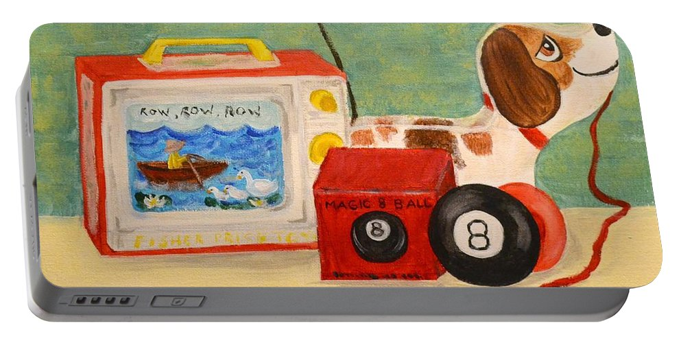 Toys Portable Battery Charger featuring the painting Memories by Nancy Sisco