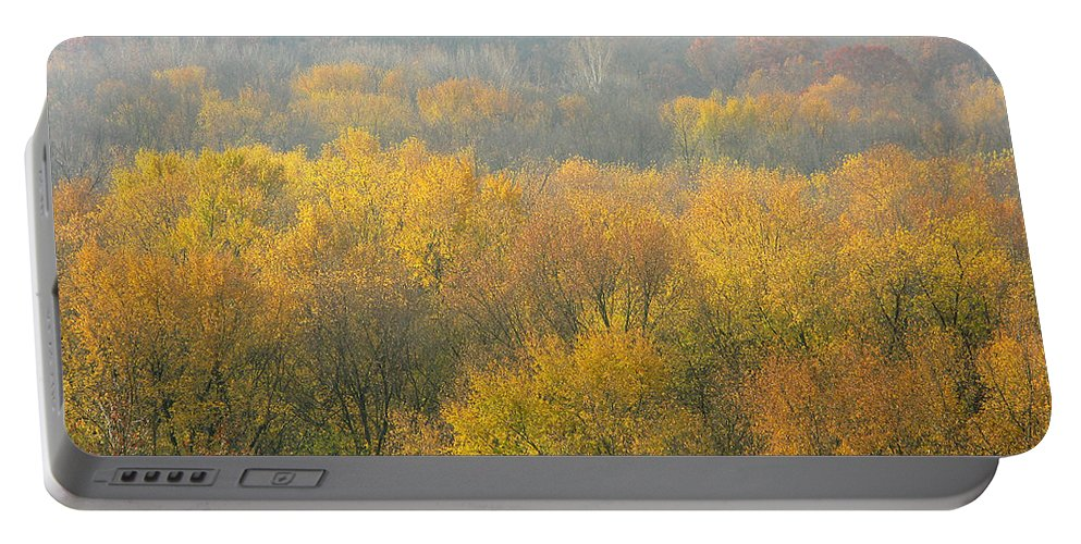 Meramec Portable Battery Charger featuring the photograph Meramec River Valley Autumn At Castlewood State Park In Missouri by Greg Matchick