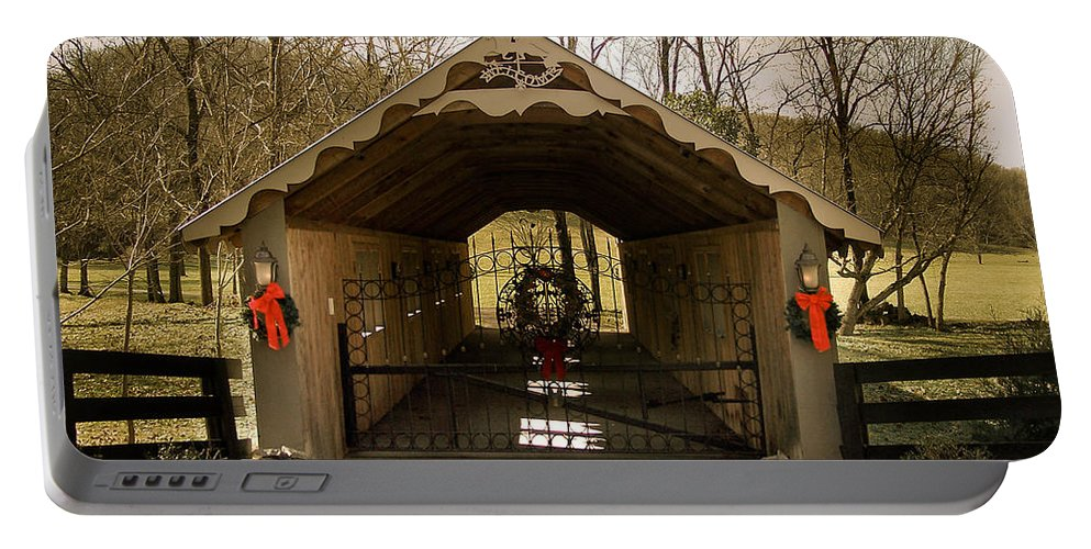 Merry Portable Battery Charger featuring the photograph Merry Christmas From Tennessee by Trish Tritz