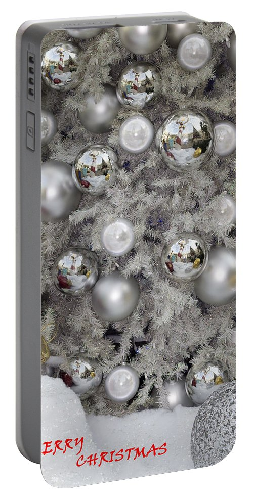 Merry Christmas-christmas Card Portable Battery Charger featuring the photograph Merry Christmas V3 by Douglas Barnard