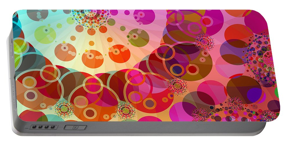 Merry Go Round Portable Battery Charger featuring the digital art Merry Go Round 1 by Angelina Tamez