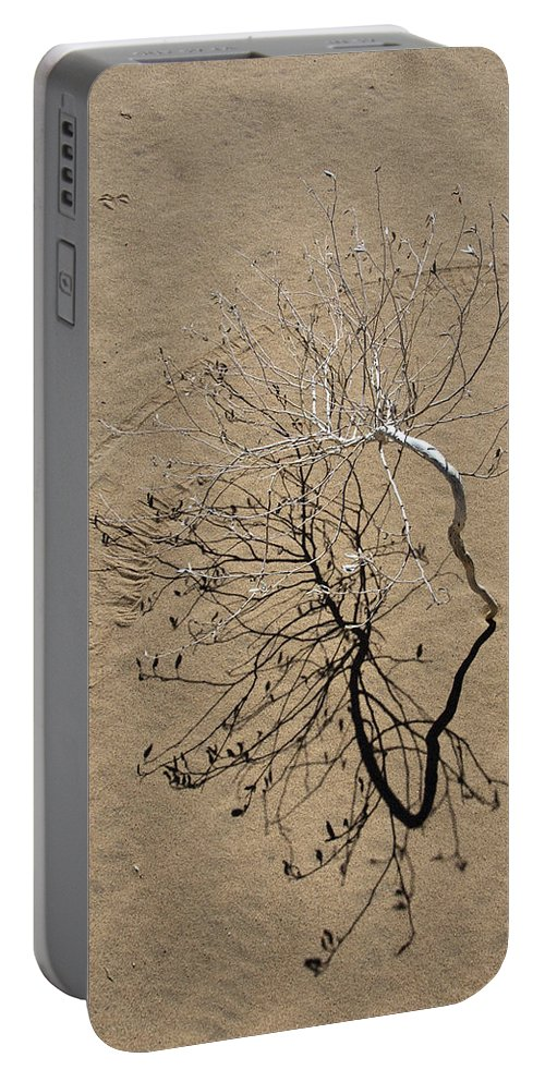 Sand Dune Portable Battery Charger featuring the photograph Message In The Sand by Chris Brannen