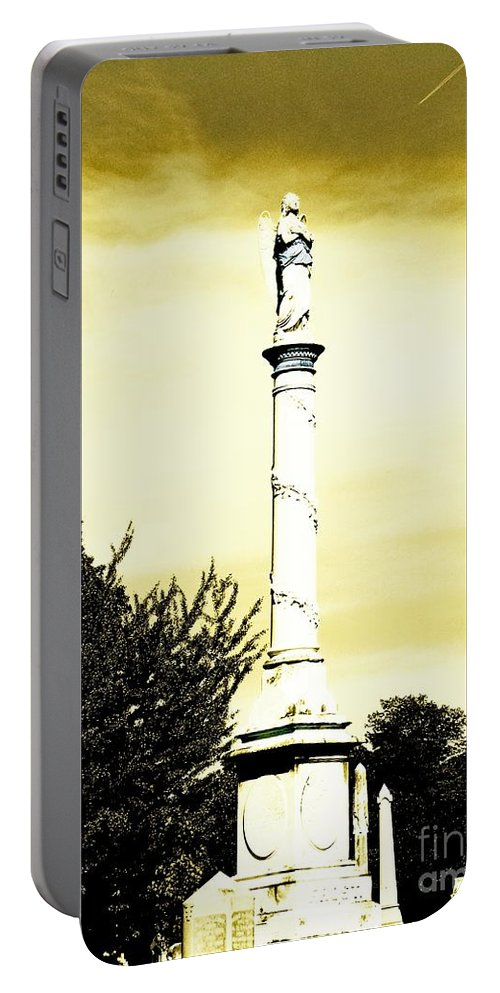 Cemetary Portable Battery Charger featuring the photograph Message by Lizi Beard-Ward
