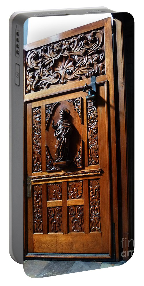 Mesoamerica Portable Battery Charger featuring the photograph Mexican Door 3 by Xueling Zou