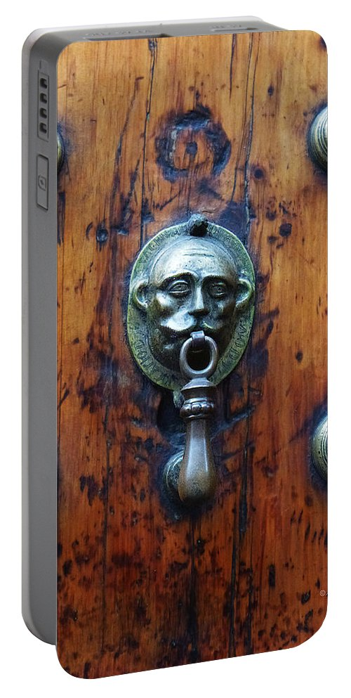 North America Portable Battery Charger featuring the photograph Mexican Door Decor 13 by Xueling Zou