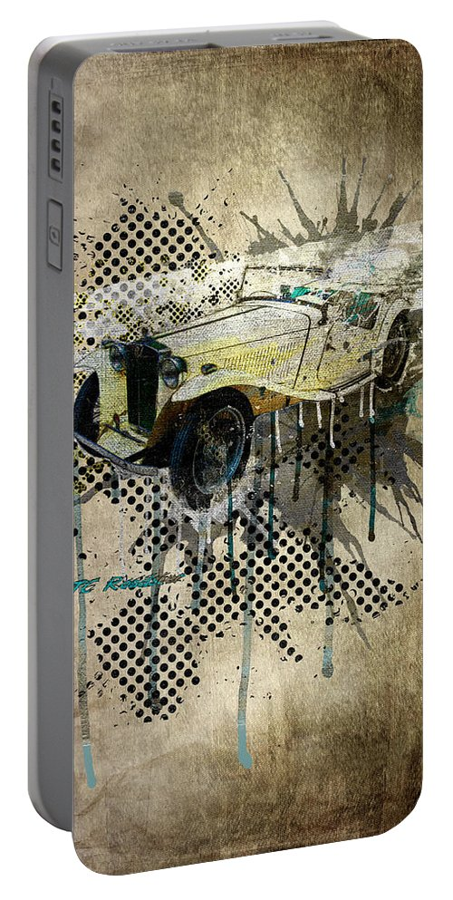 Active Portable Battery Charger featuring the digital art Mg Tc Roadster by Svetlana Sewell
