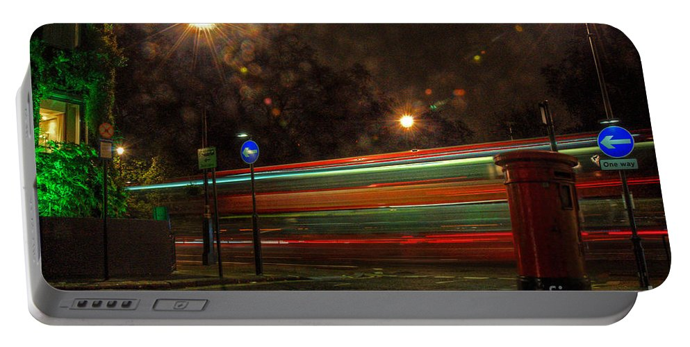 Mayfair Portable Battery Charger featuring the photograph Midnight In Mayfair by Rob Hawkins