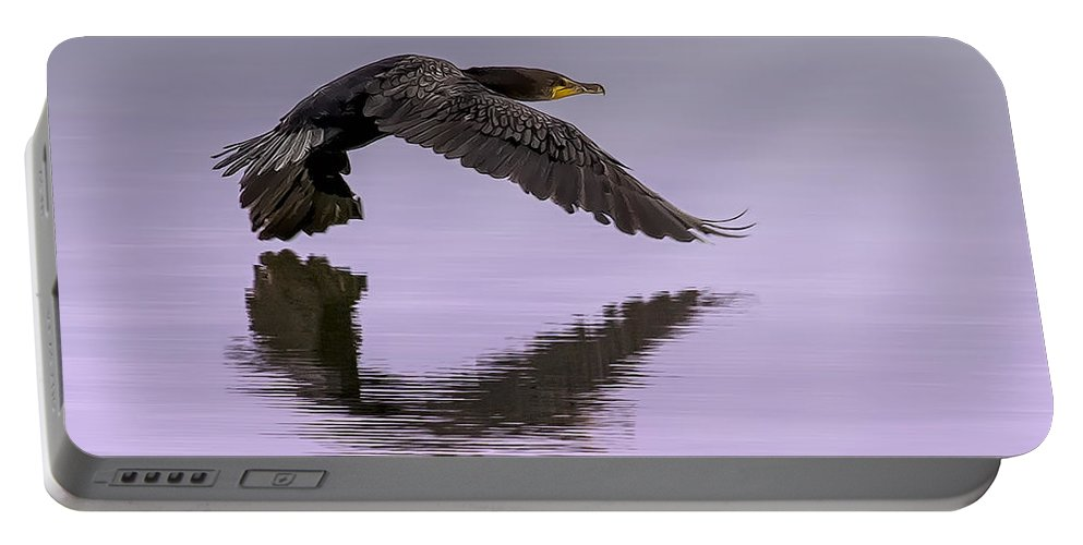 Cormorant Portable Battery Charger featuring the photograph Midnight Run by Janet Fikar