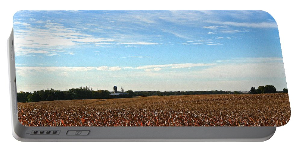 Landscape Portable Battery Charger featuring the photograph Midwest Farm by Susan Herber