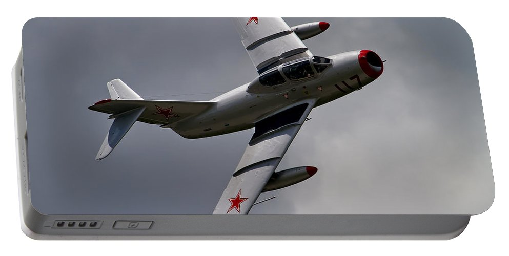 Aircraft Portable Battery Charger featuring the photograph Mig-15 Uti by Bill Lindsay