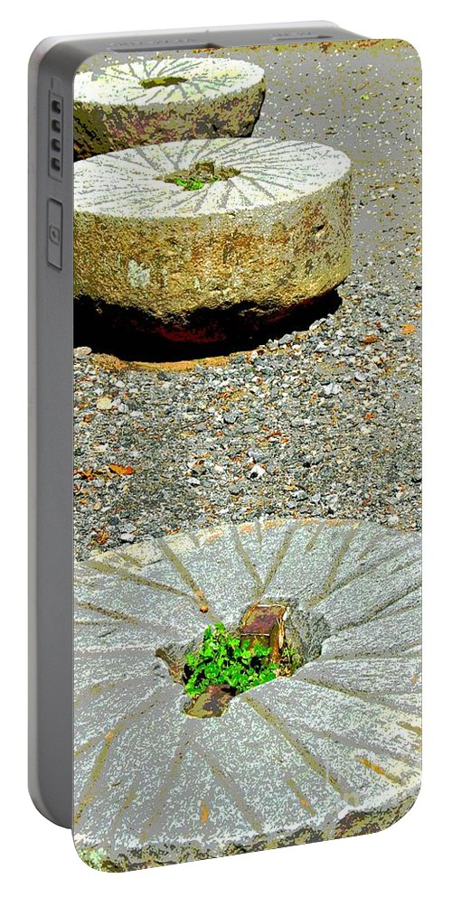 Mill Stones Portable Battery Charger featuring the photograph Mill Stones by Cindy Manero
