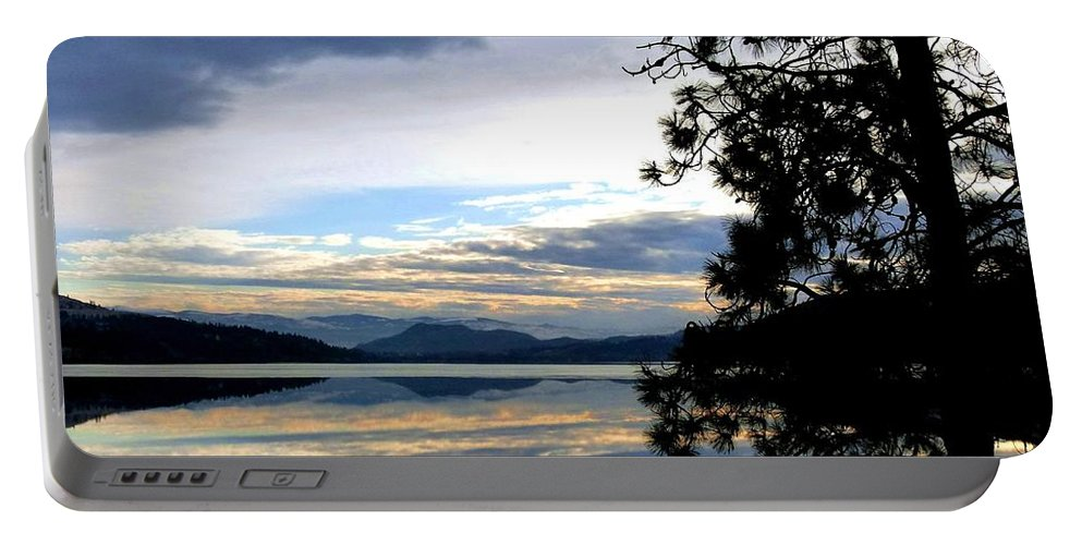Wood Lake Portable Battery Charger featuring the photograph Mirror Image Sunset by Will Borden