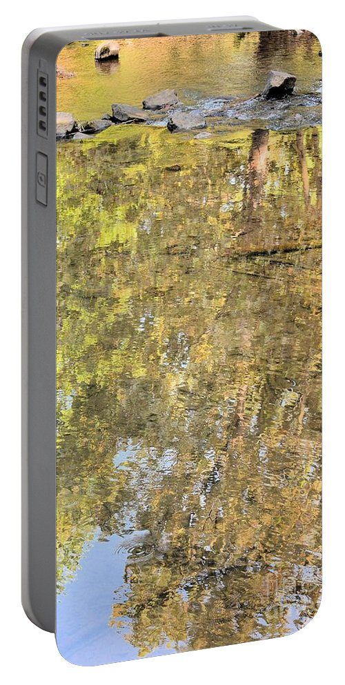 Mirroring Autumn Portable Battery Charger featuring the photograph Mirroring Autumn by Maria Urso