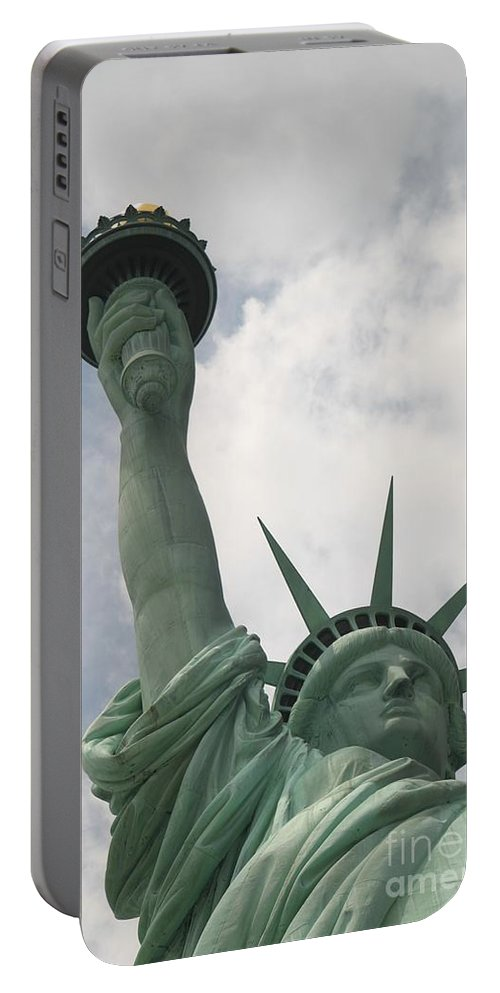 Statue Of Liberty Portable Battery Charger featuring the photograph Miss Statue Of Liberty by Living Color Photography Lorraine Lynch