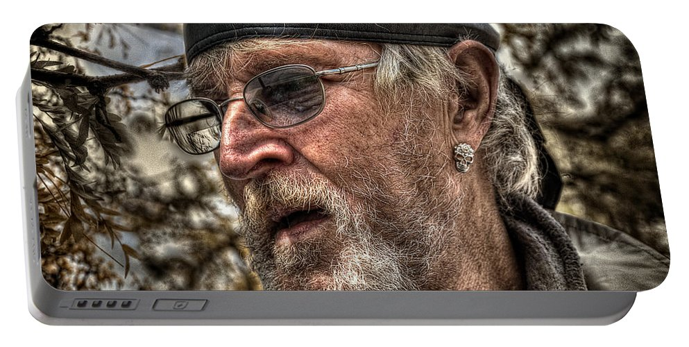 Acrylic Prints Portable Battery Charger featuring the photograph Missing Eyes by John Herzog