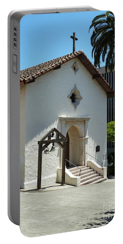 Mission San Rafael Arcangel Chapel Portable Battery Charger featuring the photograph Mission San Rafael Arcangel Chapel by Methune Hively