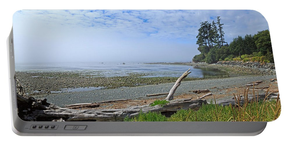 Fog Portable Battery Charger featuring the photograph Mist On The West Coast by Louise Heusinkveld