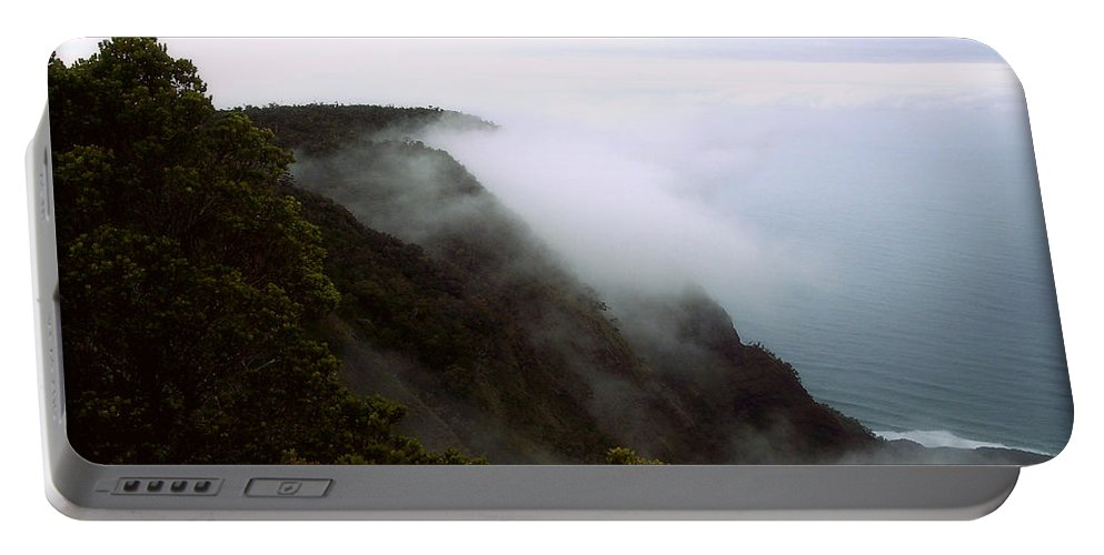 Nature Portable Battery Charger featuring the photograph Mists Along The Kalalau Valley by Paulette B Wright