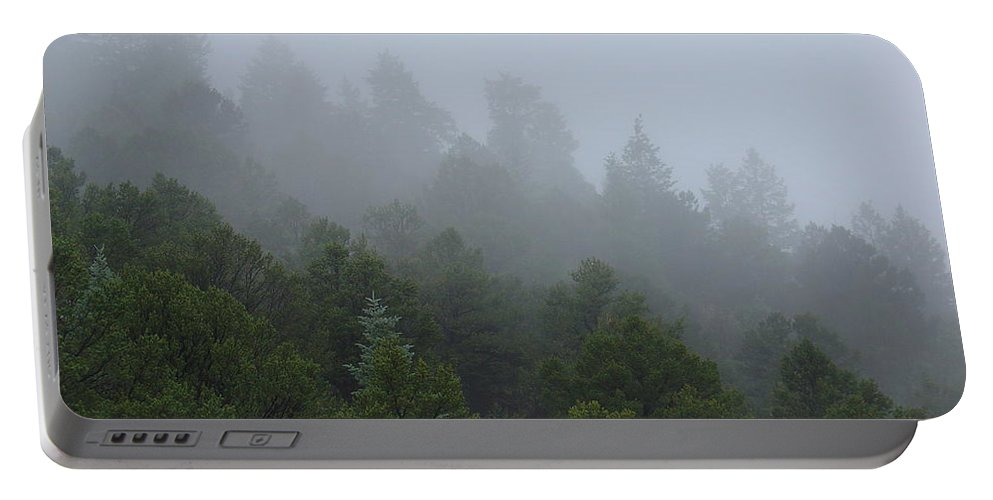 Mountain Portable Battery Charger featuring the photograph Misty Mountain Morning by Charles and Melisa Morrison