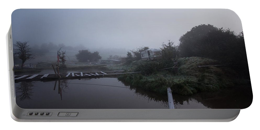 Mist Portable Battery Charger featuring the photograph Misty Reflections by Dawn OConnor