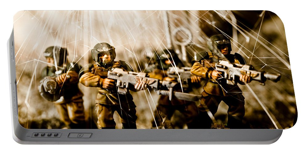 40k Portable Battery Charger featuring the photograph Modern Battle Field by Marc Garrido