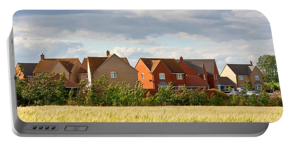 Barley Portable Battery Charger featuring the photograph Modern Housing by Tom Gowanlock