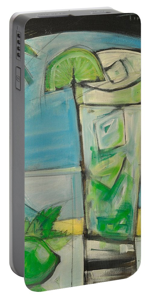 Mojito Portable Battery Charger featuring the painting Mojito2 by Tim Nyberg
