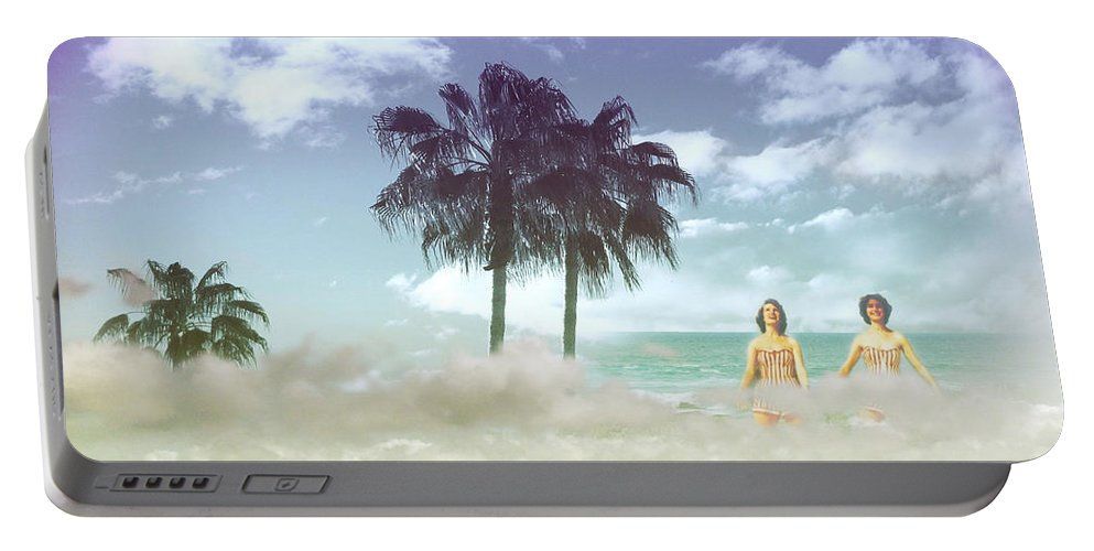 Beach Portable Battery Charger featuring the photograph Mom's Tropical Dreams by Kathleen Grace