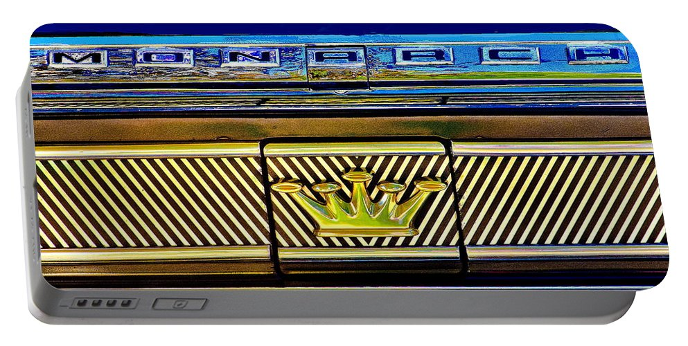 Cars Portable Battery Charger featuring the photograph Monarch by Burney Lieberman