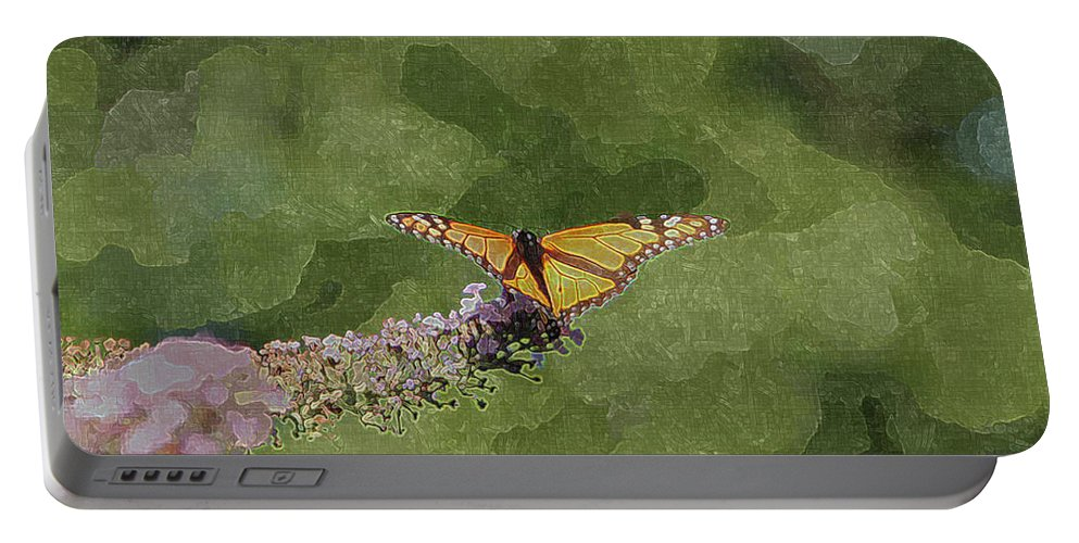 Digital Art Portable Battery Charger featuring the photograph Monarch Butterfly by Ericamaxine Price