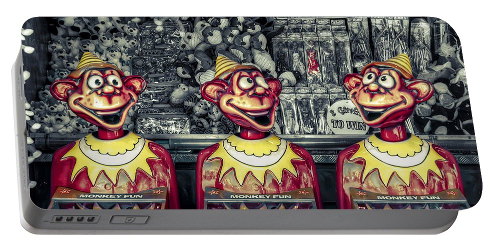 Sideshow Portable Battery Charger featuring the photograph Monkey Business by Wayne Sherriff