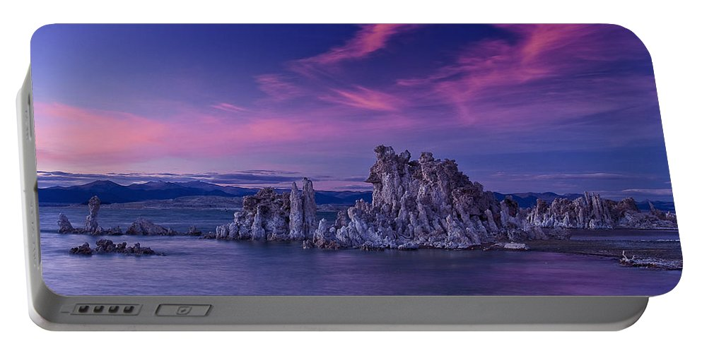 Mono Lake's Fiery Sky Portable Battery Charger featuring the photograph Mono Lake's Fiery Sky by Wes and Dotty Weber