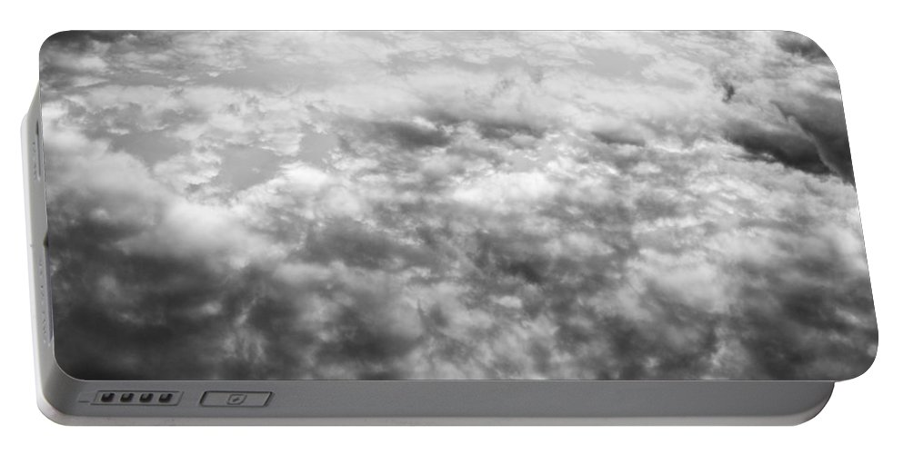 Clouds Portable Battery Charger featuring the photograph Monochrome Clouds by David Pyatt