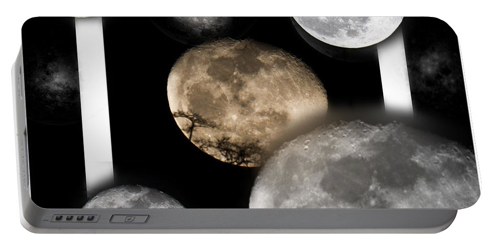 Moon Portable Battery Charger featuring the photograph Moon From The Country by Betsy Knapp