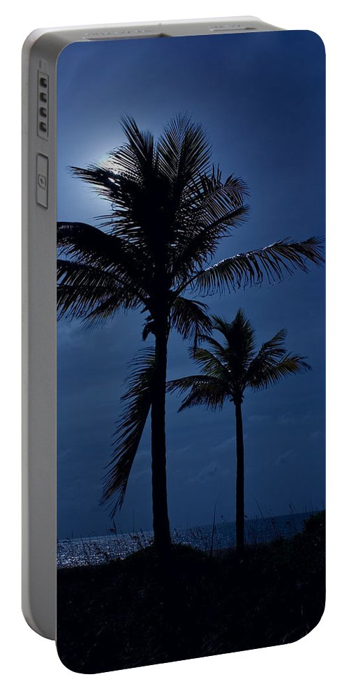 Moon Portable Battery Charger featuring the photograph Moonlight Feels Right by Mark Andrew Thomas