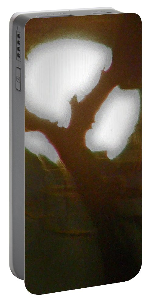 Full Moon Portable Battery Charger featuring the photograph Moonlight Thru Pecans by Amber Stubbs