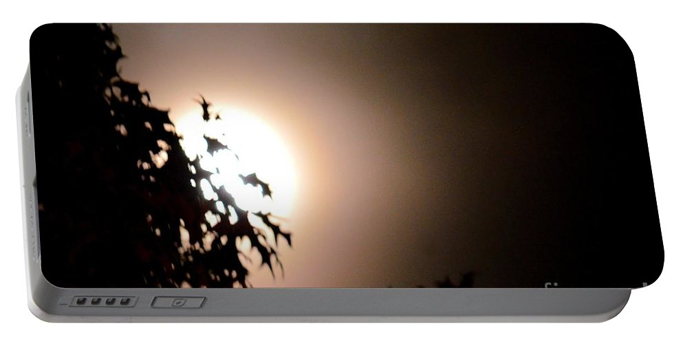 Moonlit Oak Portable Battery Charger featuring the photograph Moonlit Oak by Maria Urso