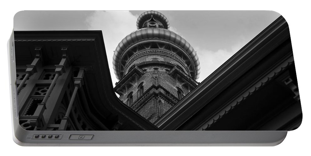 Fine Art Photography Portable Battery Charger featuring the photograph Moorish Architecture by David Lee Thompson