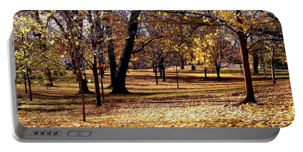 Trees Portable Battery Charger featuring the photograph More Fall Trees by Stephanie Moore