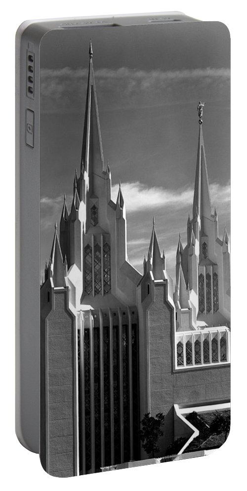Mormon Temple Portable Battery Charger featuring the photograph Mormon Temple La Jolla by Mike Penney
