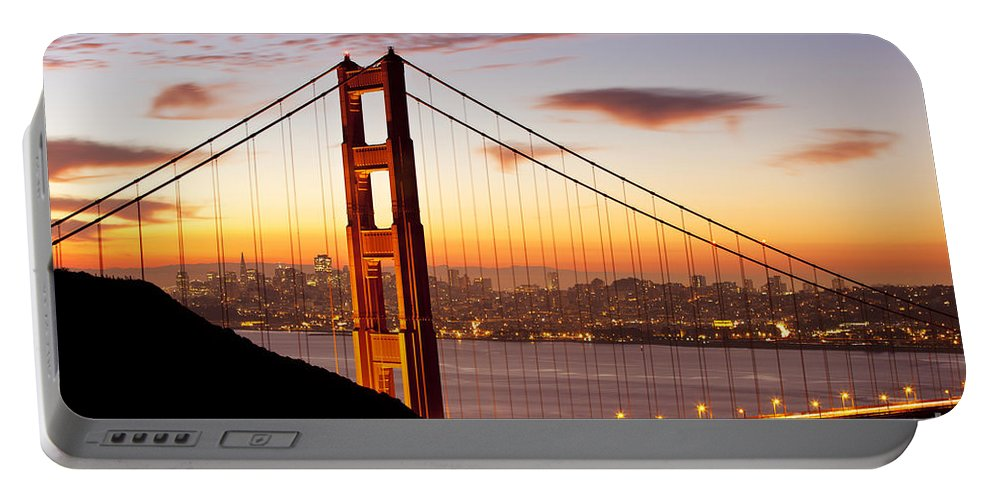 Sunrise Portable Battery Charger featuring the photograph Morning Over San Francisco by Brian Jannsen