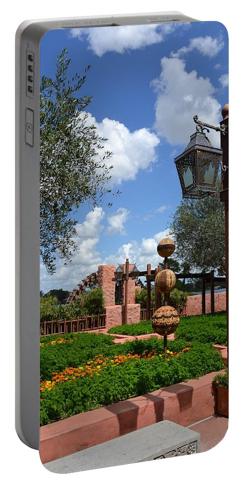 Photo Portable Battery Charger featuring the photograph Moroccan Garden I by Bonnie Myszka