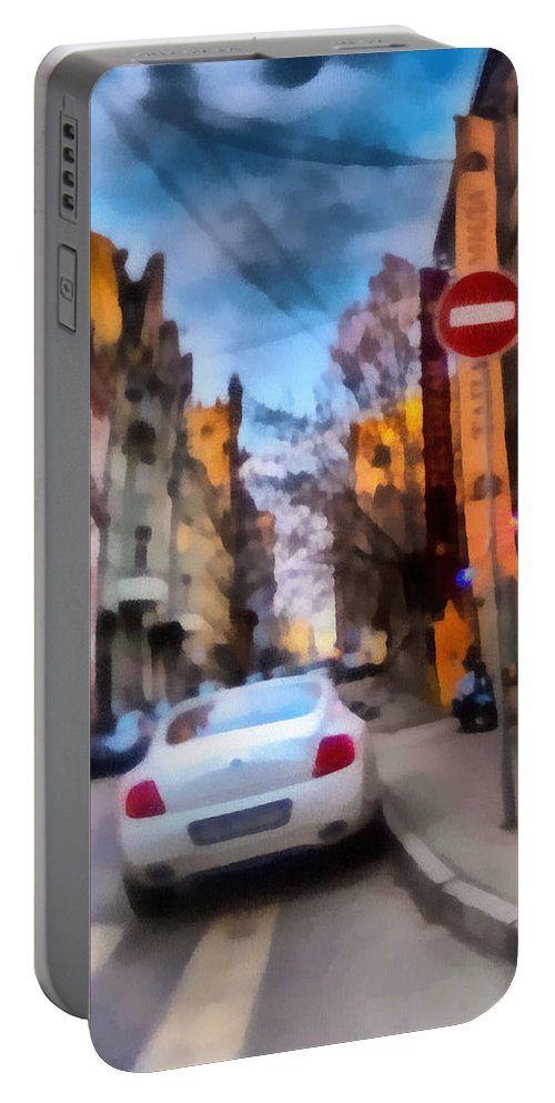 Art Portable Battery Charger featuring the photograph Moscow's Streets by Michael Goyberg