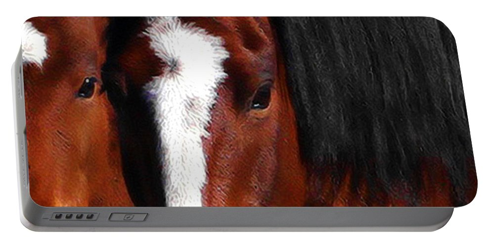 Horse Portable Battery Charger featuring the photograph Mother And Son Wild by Terry Fiala