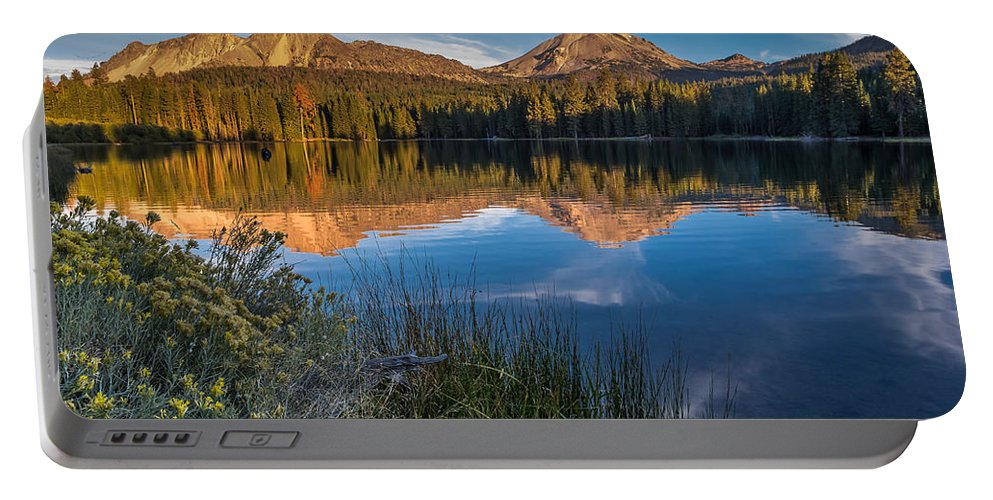 Cascades Portable Battery Charger featuring the photograph Mount Lassen Reflecting 2 by Greg Nyquist