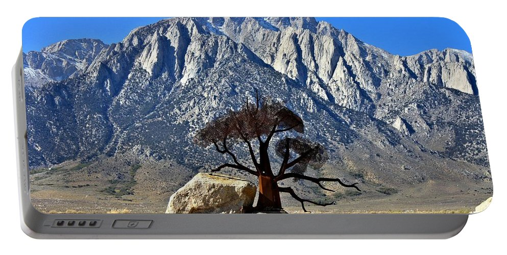 Mount Williamson Portable Battery Charger featuring the photograph Mount Williamson by Tommy Anderson